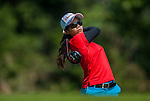 Ajira Nualraksa of Thailand plays a shot during the Hyundai China Ladies Open 2014 on December 09 2014 at Mission Hills Shenzhen, in Shenzhen, China. Photo by Xaume Olleros / Power Sport Images