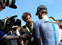 Picture by Simon Wilkinson/SWpix.com 17/07/2017 - Cycling Tour de France 2017 - Rest Day Le Puy En Velay - Michael Kwiatkowski at a Team Sky press conference today ( Monday )