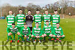 The Killarney Celtic team that played Ringmahon Rangers in the Munster Junior cup in Celtic Park on Sunday