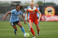 Piscataway, NJ - Saturday July 09, 2016: Taylor Lytle, Denise O'Sullivan during a regular season National Women's Soccer League (NWSL) match between Sky Blue FC and the Houston Dash at Yurcak Field.