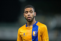 CJ Hamilton of Mansfield Town during the The Checkatrade Trophy  Quarter Final match between Mansfield Town and Wycombe Wanderers at the One Call Stadium, Mansfield, England on 24 January 2017. Photo by Andy Rowland.
