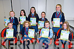 Presentation Convent Listowel. - Libby Slemon, Cora O'Driscoll, Amy Heaphy, Emma O'Connor Moran, Lily Twomey, Alexandra Wojtusik, Fiona Kelly, Jennifer Kelly and Alise Harris award winners at the Scriobh Leabhar Presentation evening in the Eduction Centre Dromthacker Tralee
