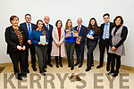 Marie Ann Browne, Cathal Fitzgerald, Michaela Harrington, Hugh Culloty, Ann O' Dwyer (Director of Schools ETB), Katie O'Connor, Colm McEvoy (CEO ETB), Shania O'Brien, Liam McGill and Pia Thornton pictured at the Kerry ETB Christmas Card Competition, at the ETB Offices in Centrepoint, Tralee on Friday.