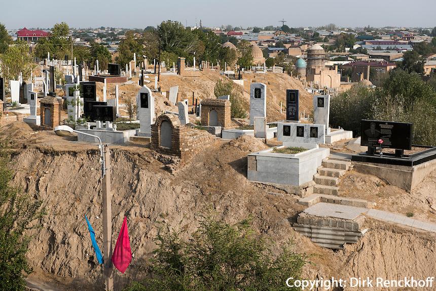 Friedhof bei Hazrat Hizr Moschee, Samarkand, Usbekistan, Asien<br /> cemetery near Hazrat Hizr mosque, Samarkand,  Uzbekistan, Asia