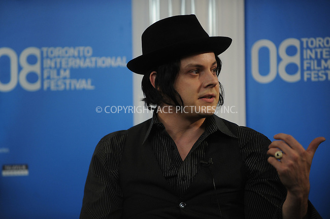 WWW.ACEPIXS.COM . . . . .....September 8, 2008. Toronto, Canada....Musician Jack White attends 'It Might Get Loud' Press Conference during the 2008 Toronto Film Festival held at the Sutton Place Hotel in Toronto, Ontario, Canada...  ....Please byline: Kristin Callahan - ACEPIXS.COM..... *** ***..Ace Pictures, Inc:  ..Philip Vaughan (646) 769 0430..e-mail: info@acepixs.com..web: http://www.acepixs.com