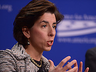Washington, DC - February 19, 2016: Gov. Gina Raimondo of Rhode Island participates in a panel discussion on climate and clean energy at the Center for American Progress in the District of Columbia, February 19, 2016. (Photo by Don Baxter/Media Images International)