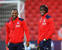 Wilfried Zaha of Crystal Palace right with Jason Puncheon of Crystal Palace during AFC Bournemouth vs Crystal Palace, Premier League Football at the Vitality Stadium on 1st October 2018
