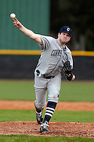Connecticut Huskies pitcher Pat Butler #44 delivers a pitch during a game against the Purdue Boilermakers at the Big Ten/Big East Challenge at Walter Fuller Complex on February 18, 2012 in St. Petersburg, Florida.  (Mike Janes/Four Seam Images)