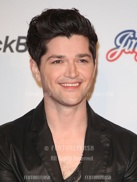 Danny from The Script arriving for the Capital Radio Jingle Bell Ball, O2 Arena, London. 08/12/2012 Picture by: Alexandra Glen / Featureflash