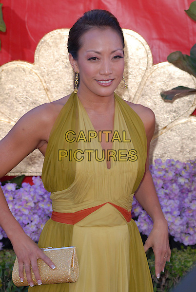 CARRIE ANN INABA.58th Annual Primetime Emmy Awards held at the Shrine Auditorium, Los Angeles, California, USA..August 27th, 2006.Ref: ADM/CH.half length green halterneck dress.www.capitalpictures.com.sales@capitalpictures.com.©Charles Harris/AdMedia/Capital Pictures.