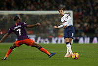 Harry Winks of Tottenham Hotspur plays the ball forward during Tottenham Hotspur vs Manchester City, Premier League Football at Wembley Stadium on 29th October 2018