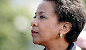 United States Attorney General Loretta Lynch attends the National Peace Officers Memorial Service, an annual ceremony honoring law enforcement who were killed in the line of duty in the previous year, at the US Capitol in Washington, DC, May 15, 2015. <br /> Credit: Olivier Douliery / Pool via CNP