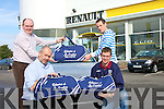 KIT: Noel O'Connor left of Adams Car Sales Mile Height Tralee who presented Cyril Dineen Captain of Causeway Hurling Team with sponsored new bags on Saturday. Also in pic front l-r John Joe Delaney (chairman of Causeway Hurling Club) and John Madden (Secretary Causeway Hurling Club).......................   Copyright Kerry's Eye 2008