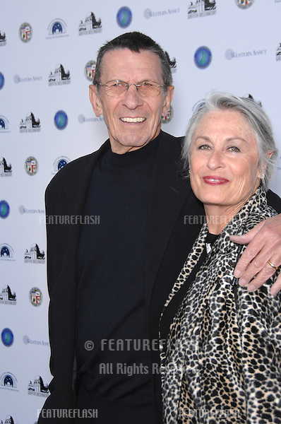 LEONARD NIMOY & wife SUSAN BAY at the reopening gala for the historic Griffith Observatory in Los Angeles..October 29, 2006  Los Angeles, CA.Picture: Paul Smith / Featureflash