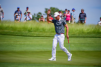 Maverick McNealy (am)(USA) after sinking his birdie putt on 11 during Thursday's round 1 of the 117th U.S. Open, at Erin Hills, Erin, Wisconsin. 6/15/2017.<br /> Picture: Golffile | Ken Murray<br /> <br /> <br /> All photo usage must carry mandatory copyright credit (&copy; Golffile | Ken Murray)