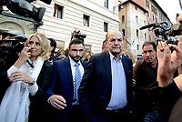 Roma, 11 Ottobre 2107<br /> Pier Luigi Bersani<br /> Legge elettorale, Sinistra Italiana, MDP, e Possibile in Piazza contro la fiducia.