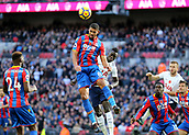 5th November 2017, Wembley Stadium, London England; EPL Premier League football, Tottenham Hotspur versus Crystal Palace; Ruben Loftus-Cheek of Crystal Palace heads the ball out