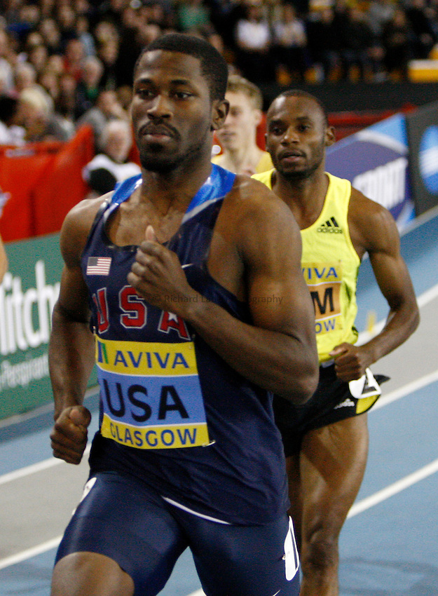Photo: Richard Lane/Richard Lane Photography. Aviva International Match. 30/01/2010. USA's Karjuan Williams in  the men's 800m.