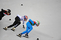 OLYMPIC GAMES: PYEONGCHANG: 17-02-2018, Gangneung Ice Arena, Short Track, 1000m Men, Lim Hyo Jun (KOR), Yuri Confortola (ITA), ©photo Martin de Jong