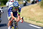 The breakaway group including Yoann Offredo (FRA) Wanty-Groupe Gobert in action during Stage 1 of the 2018 Tour de France running 201km from Noirmoutier-en-l&rsquo;&Icirc;le to Fontenay-le-Comte, France. 7th July 2018. <br /> Picture: ASO/Pauline Ballet | Cyclefile<br /> All photos usage must carry mandatory copyright credit (&copy; Cyclefile | ASO/Pauline Ballet)