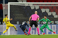 Soccer Football - Champions League - Round of 16 Second Leg - Paris St Germain v Borussia Dortmund - Parc des Princes, Paris, France - March 11, 2020  Paris St Germain's Neymar scores their first goal     <br /> Photo Pool/Panoramic/Insidefoto