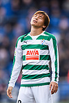 Takashi Inui of SD Eibar reacts during the La Liga 2017-18 match between Getafe CF and SD Eibar at Coliseum Alfonso Perez Stadium on 09 December 2017 in Getafe, Spain. Photo by Diego Souto / Power Sport Images