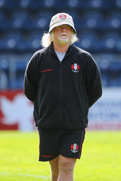 Gloucester Rugby's Head Coach Laurie Fisher during the pre match warm up<br /> <br /> Photographer Craig Thomas/CameraSport<br /> <br /> Rugby Union - 2015/16 Champions Cup Qualifying Play Off Final - Gloucester Rugby v  Bordeaux-Begles - Sunday 31st May 2015 - Sixways, Worcester<br /> <br /> &copy; CameraSport - 43 Linden Ave. Countesthorpe. Leicester. England. LE8 5PG - Tel: +44 (0) 116 277 4147 - admin@camerasport.com - www.camerasport.com