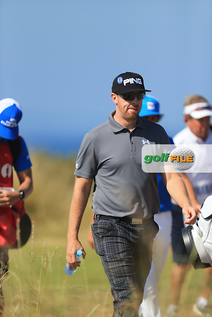 Hunter MAHAN (USA) during round one of  The 142th Open Championship Muirfield, Gullane, East Lothian, Scotland 18/7/2013<br /> Picture Fran Caffrey www.golffile.ie: