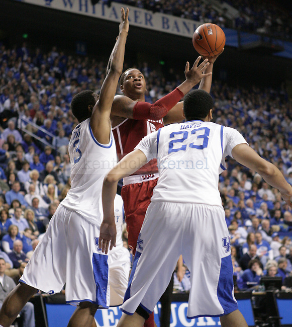 Alabama forward Nick Jacobs goes for a layup during the first half of UK's game against Alabama at Rupp Arena in Lexington, Ky. Jan. 21, 2012. Photo by Brandon Goodwin | Staff