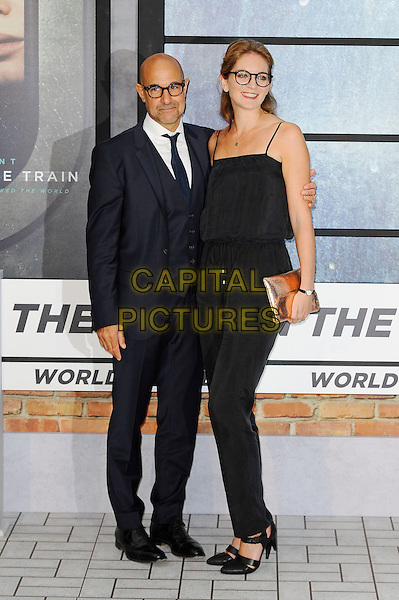 LONDON, ENGLAND - SEPTEMBER 20: Stanley Tucci and Felicity Blunt attending 'The Girl On The Train' World Premiere at Odeon Cinema, Leicester Square on September 20, 2016 in London, England.<br /> CAP/MAR<br /> &copy;MAR/Capital Pictures