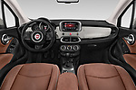 Stock photo of straight dashboard view of 2017 Fiat 500X Lounge 5 Door SUV Dashboard