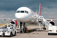 Jet2 Aircraft under repair at East Midlands Airport