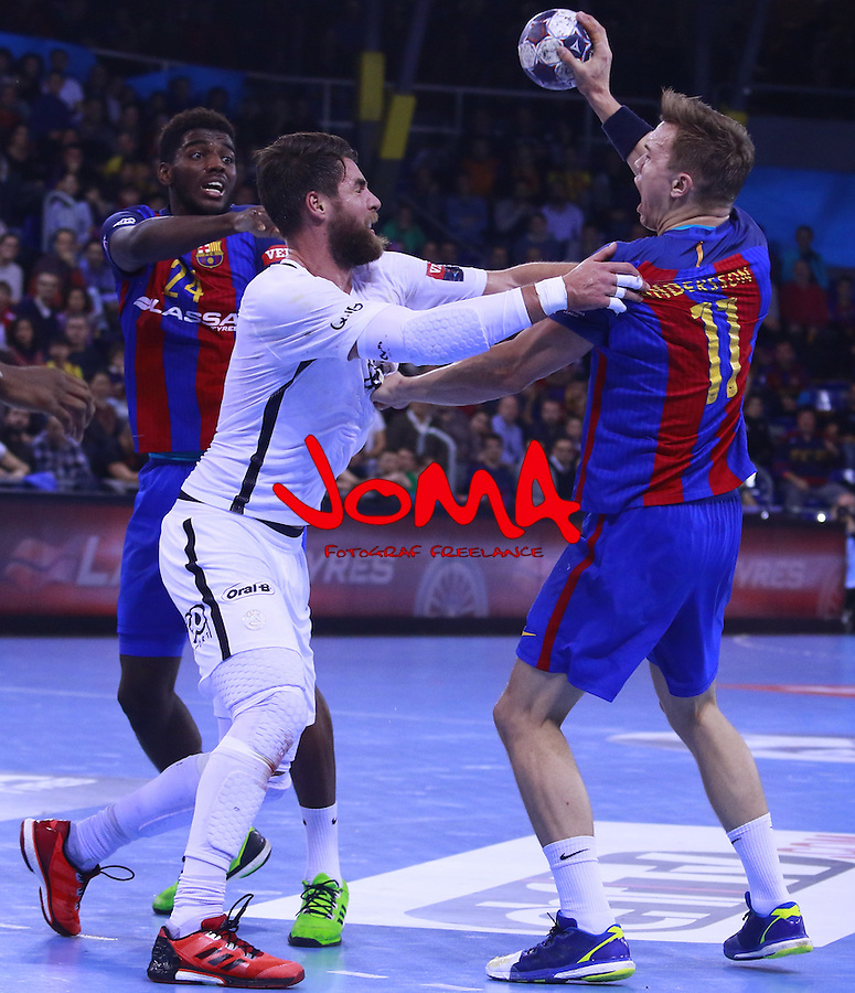 03.12.2016 Barcelona. EHF Champions League Group Phase. Picture show Andersson in action during game between FC Barcelona Lassa against Paris Saint-Germain at Palau Blaugrana