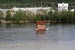 House boat on  the Yukon River, Near Dawson City, The Yukon Territory, Canada,