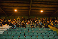 Wycombe supporters during the Sky Bet League 2 match between Yeovil Town and Wycombe Wanderers at Huish Park, Yeovil, England on 24 November 2015. Photo by Andy Rowland.