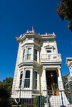 California: San Francisco. Victorian house. Photo copyright Lee Foster. Photo #: san-francisco-victorians-21-casanf83875