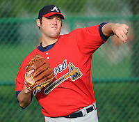 17 March 2009: LHP Brett DeVall of the Atlanta Braves  at Spring Training camp at Disney's Wide World of Sports in Lake Buena Vista, Fla. Photo by:  Tom Priddy/Four Seam Images