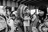 New Orleans, Louisiana.USA.February 28, 2006..The Indians take to the streets of New Orleans for Mardi Gras.