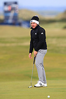 Tyrrell Hatton (ENG) on the 16th green during round 4 of the Alfred Dunhill Links Championship at Old Course St. Andrew's, Fife, Scotland. 07/10/2018.<br /> Picture Thos Caffrey / Golffile.ie<br /> <br /> All photo usage must carry mandatory copyright credit (&copy; Golffile | Thos Caffrey)