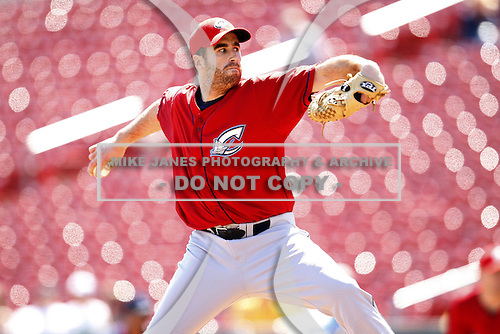 May 21, 2009:  Relief Pitcher Vinnie Chulk of the Columbus Clippers, International League Triple-A affiliate of the Cleveland Indians, delivers a pitch during a game at Coca-Cola Field in Buffalo, NY.  Photo by:  Mike Janes/Four Seam Images