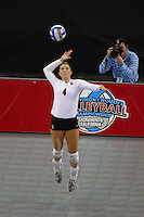 15 December 2007: Stanford Cardinal Bryn Kehoe during Stanford's 25-30, 26-30, 30-23, 30-19, 8-15 loss against the Penn State Nittany Lions in the 2007 NCAA Division I Women's Volleyball Final Four championship match at ARCO Arena in Sacramento, CA.