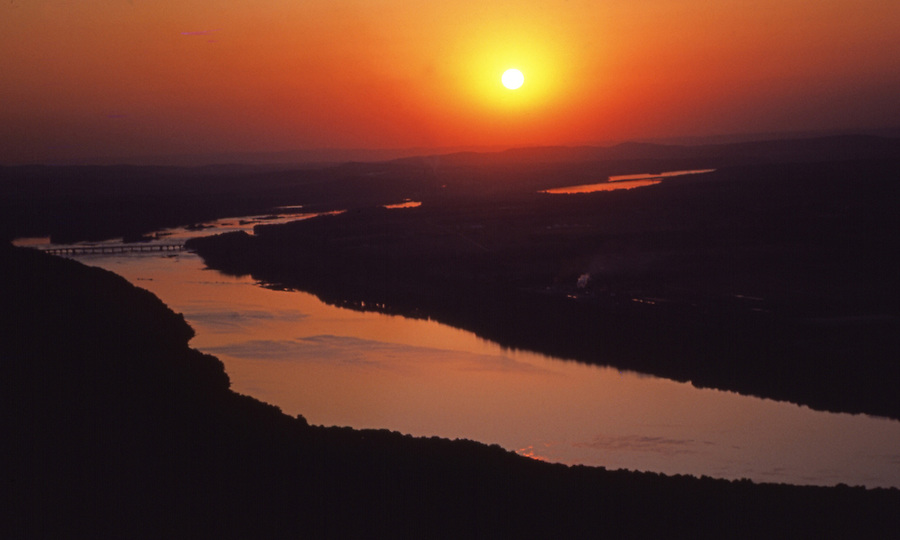 PA landscapes, Aerial Photograph, Sunset, Susquehanna River, Pennsylvania, South of Harrisburg