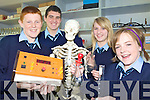NEW ROOM: Students of St Joseph's Secondary School in Ballybunion checking out their new science room at the school this week, l-r: Dean Nolan, Sean Farrell, Jennifer Brosnan, Ciara Walsh.