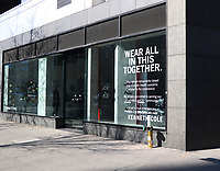 NEW YORK, NY- March 16: Kenneth Cole store at Bond Street closed due to the Coronavirus crisis in New York City on March 16, 2020. <br /> CAP/MPI/RW<br /> ©RW/MPI/Capital Pictures