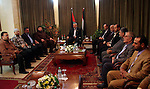 Deposed Palestinian Prime Minister Ismail Haniyeh received a delegation from the opposition factions in his office in Gaza City.