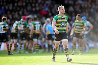 Harry Mallinder of Northampton Saints looks on. Aviva Premiership match, between Northampton Saints and Leicester Tigers on April 16, 2016 at Franklin's Gardens in Northampton, England. Photo by: Patrick Khachfe / JMP