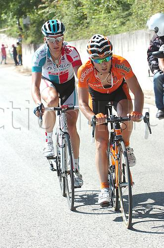 13.05.2011. Giro d Italia, Stage 7.  Maddaloni - Montevergine Di Mercogliano, Omega Pharma-Lotto 2011, Euskaltel 2011, Lang Sebastian, Cazaux Pierre, Serra della Strada