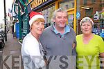 Shopping for Christmas in Cahersiveen on Saturday last were l-r Sadie Curran, Kieran McCarthy & Mary Corkery.