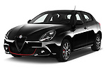 2016 Alfaromeo Giulietta Super 5 Door Hatchback Angular Front stock photos of front three quarter view