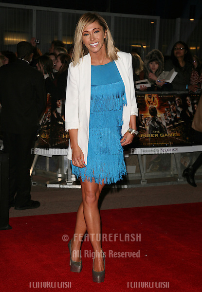 Jenny Frost arriving at the European Premiere of 'The Hunger Games' at the O2 Arena, London. 14/03/2012 Picture by: Alexandra Glen / Featureflash